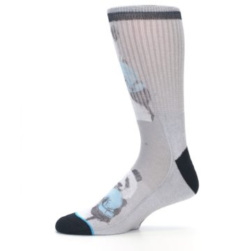 Image of Grey Boxing Panda Men's Casual Socks (side-2-11)