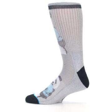 Image of Grey Boxing Panda Men's Casual Socks (side-2-12)