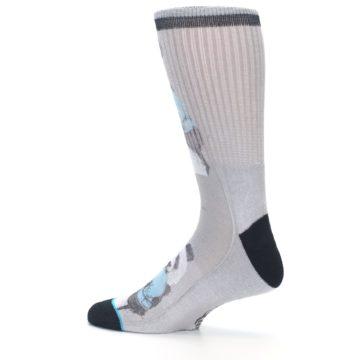 Image of Grey Boxing Panda Men's Casual Socks (side-2-13)