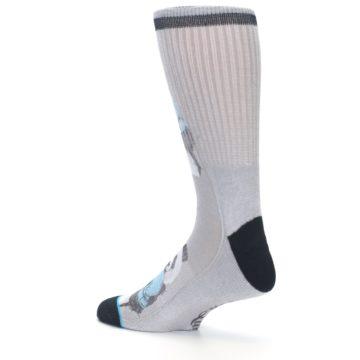 Image of Grey Boxing Panda Men's Casual Socks (side-2-back-14)