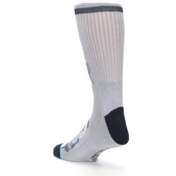 Image of Grey Boxing Panda Men's Casual Socks (side-2-back-15)