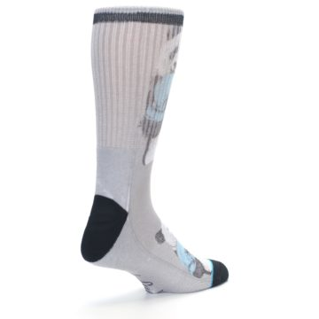 Image of Grey Boxing Panda Men's Casual Socks (side-1-back-22)