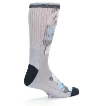 Image of Grey Boxing Panda Men's Casual Socks (side-1-23)