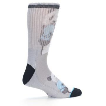 Image of Grey Boxing Panda Men's Casual Socks (side-1-24)