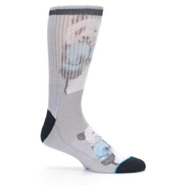 Image of Grey Boxing Panda Men's Casual Socks (side-1-25)