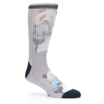 Image of Grey Boxing Panda Men's Casual Socks (side-1-26)