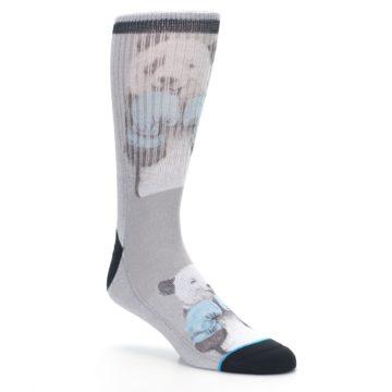 Image of Grey Boxing Panda Men's Casual Socks (side-1-27)