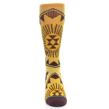 Image of Sundrop Maroon Patterned Men's Casual Socks (front-04)