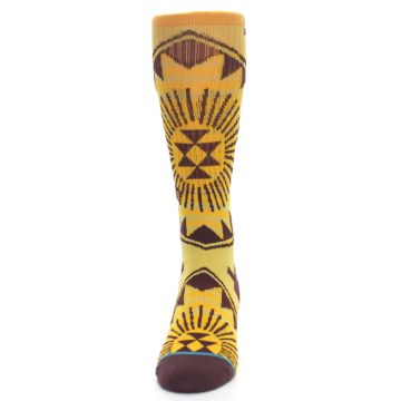 Image of Sundrop Maroon Patterned Men's Casual Socks (front-05)