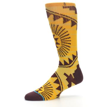 Image of Sundrop Maroon Patterned Men's Casual Socks (side-2-10)