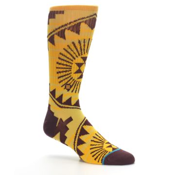Image of Sundrop Maroon Patterned Men's Casual Socks (side-1-26)