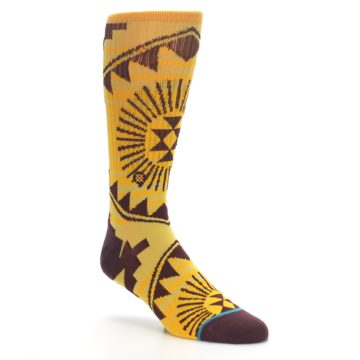 Image of Sundrop Maroon Patterned Men's Casual Socks (side-1-27)
