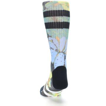 Image of Black Blue Green Corsage Men's Casual Socks (back-17)