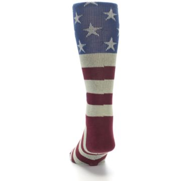 Image of Red Blue White July Fourth Men's Casual Socks (back-17)