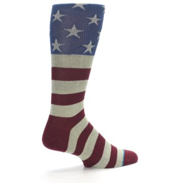 Image of Red Blue White July Fourth Men's Casual Socks (side-1-23)