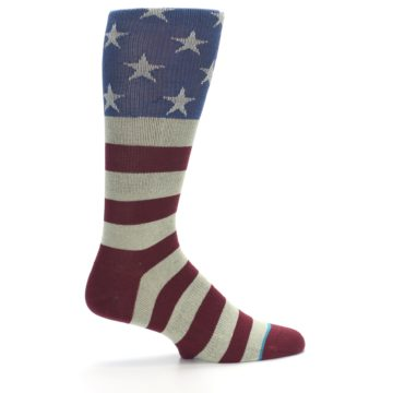 Image of Red Blue White July Fourth Men's Casual Socks (side-1-24)