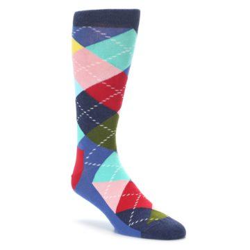 Blue Red Green Argyle dress socks Happy socks