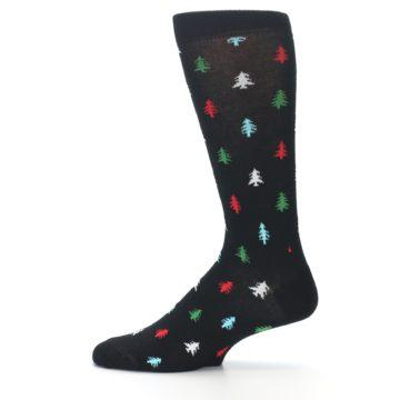 Image of Black Red Green Trees Men's Dress Socks (side-2-12)