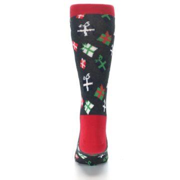 Image of Grey Red Green Christmas Gifts Men's Dress Socks (back-18)