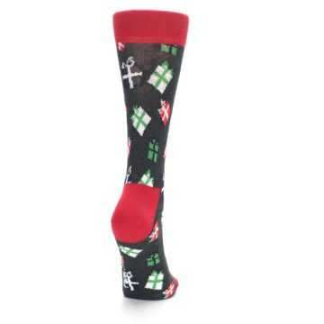 Image of Grey Red Green Christmas Gifts Women's Dress Socks (side-1-back-20)