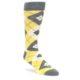 Image of Sunbeam Yellow Gray Argyle Men's Dress Socks (side-1-front-01)