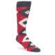 Image of Cherry Red Gray Argyle Men's Dress Socks (side-1-front-01)