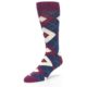 Image of Sangria Navy Argyle Wedding Groomsmen Men's Dress Socks (side-2-front-08)