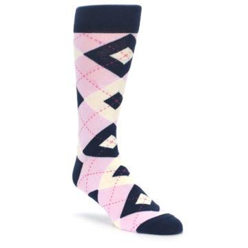 e709b7e33015 Image of Candy Tickled Pink Navy Argyle Wedding Groomsmen Men's Dress Socks.  QUICK VIEW. CUSTOMIZABLE