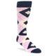 Image of Candy Tickled Pink Navy Argyle Wedding Groomsmen Men's Dress Socks (side-1-front-01)