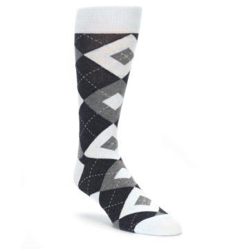 Mist Blue Argyle Wedding Socks for Groomsmen