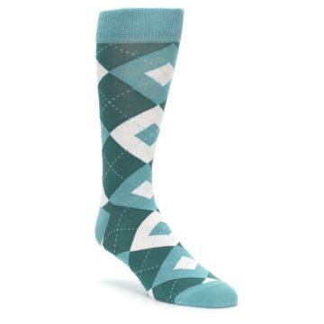 Gem Green Argyle Wedding Socks for Groomsmen