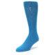 Image of Teal Solid Color Men's Dress Socks (side-2-front-08)