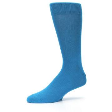 Image of Teal Solid Color Men's Dress Socks (side-2-10)