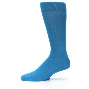 Image of Teal Solid Color Men's Dress Socks (side-2-11)