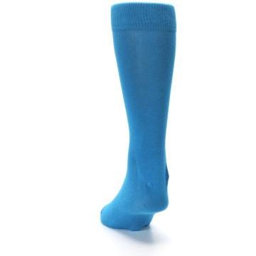 Image of Teal Solid Color Men's Dress Socks (back-17)