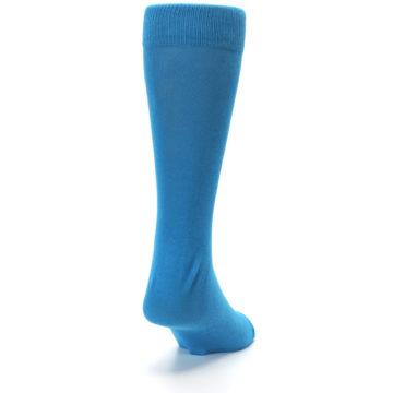 Image of Teal Solid Color Men's Dress Socks (side-1-back-20)
