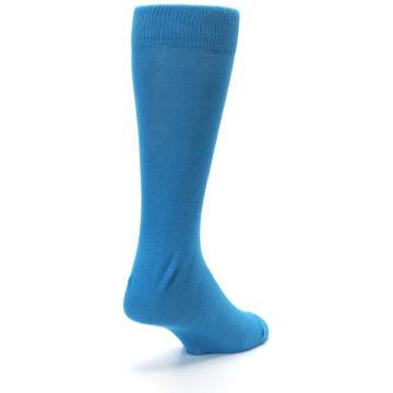 Image of Teal Solid Color Men's Dress Socks (side-1-back-21)