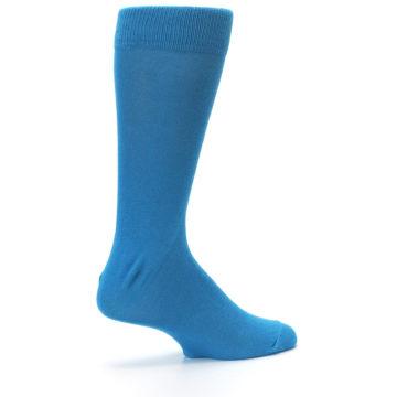 Image of Teal Solid Color Men's Dress Socks (side-1-23)