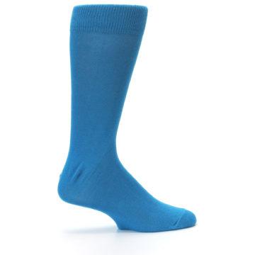 Image of Teal Solid Color Men's Dress Socks (side-1-24)