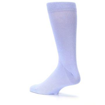 Image of Lavender Solid Color Men's Dress Socks (side-2-back-14)