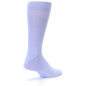 Image of Lavender Solid Color Men's Dress Socks (side-1-back-22)