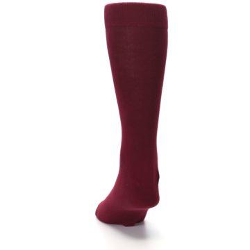 Image of Burgundy Solid Color Men's Dress Socks (back-17)