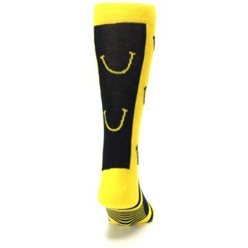 Image of Yellow LaughFest Smiley Men's Dress Socks (back-19)