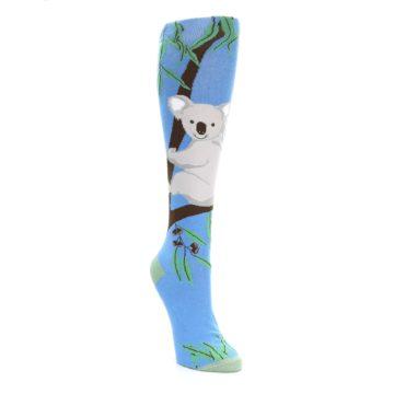 Image of Blue Koala on a Tree Women's Knee High Socks (side-1-front-02)
