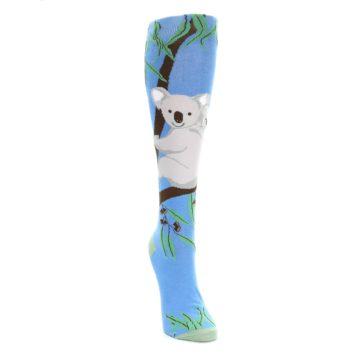 Image of Blue Koala on a Tree Women's Knee High Socks (side-1-front-03)