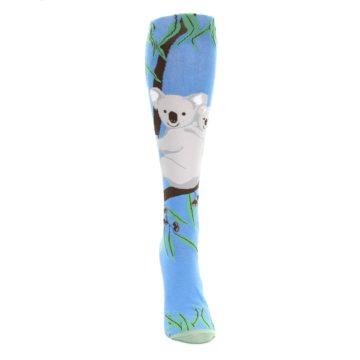 Image of Blue Koala on a Tree Women's Knee High Socks (front-04)