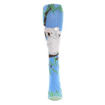 Image of Blue Koala on a Tree Women's Knee High Socks (front-05)