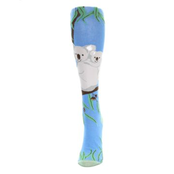 Image of Blue Koala on a Tree Women's Knee High Socks (side-2-front-06)