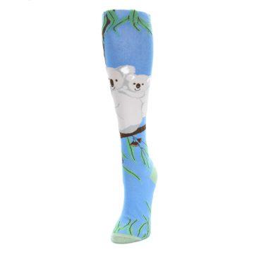 Image of Blue Koala on a Tree Women's Knee High Socks (side-2-front-07)