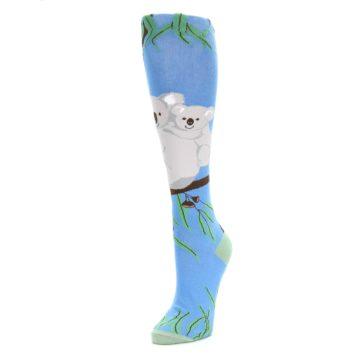 Image of Blue Koala on a Tree Women's Knee High Socks (side-2-front-08)